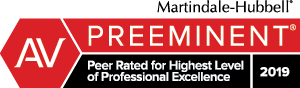 Accolade: AV Preeminent: Peer Rated for Highest Level of Professional Excellence 2018